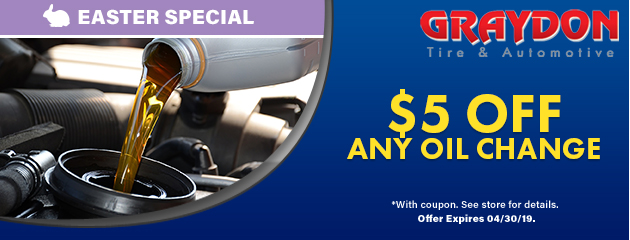 Easter Special: $5 off any oil change