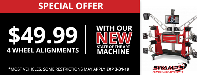 Special Offer: $49.99-4 Wheel Alignment