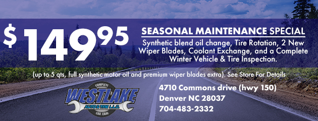 $149.95 Seasonal Maintenance Special