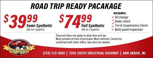 Road Trip Ready Package Coupon