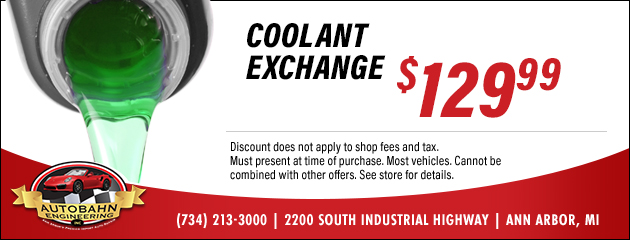 Coolant Exchange Special $129.99