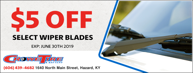 $5 off select wiper blades