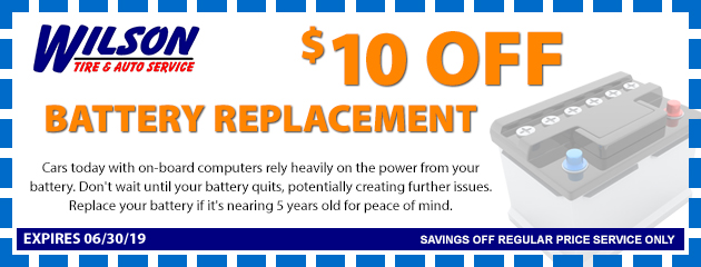 $10 OFF Battery Replace