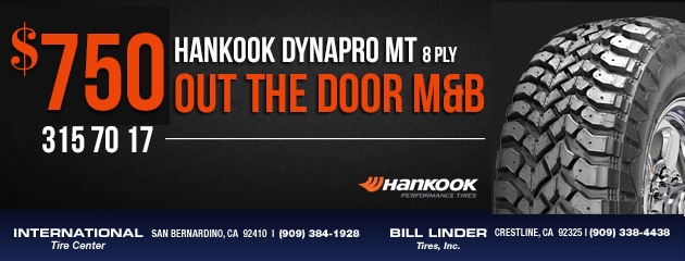 Hankook DynaPro MT Tires