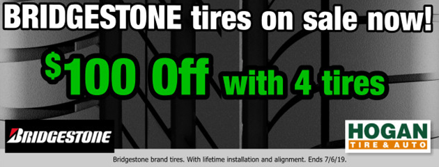 Bridgestone: Extra $100 OFF with 4 tires