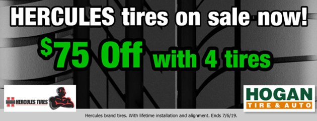 Hercules: Extra $75 OFF with 4 tires