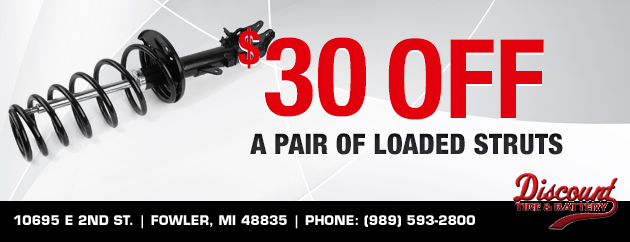 $30 off a pair of loaded struts