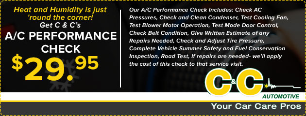 $29.95 A/C Performance Check
