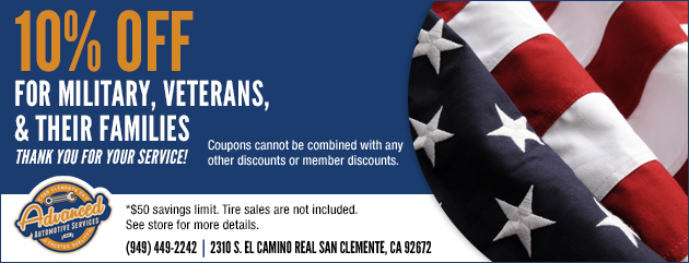 10% Off Military, Veterans, & Their Families