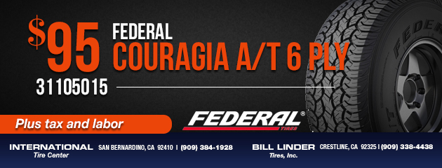 Federal Couragia A/T 6 Ply