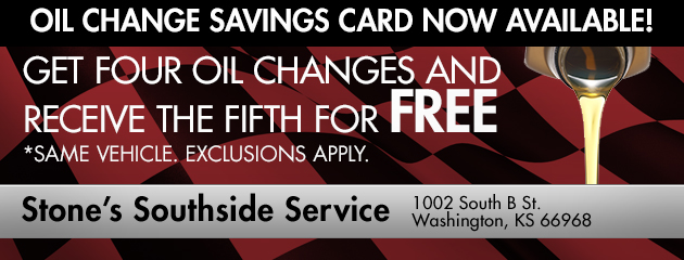 Oil Change Savings Card