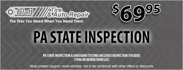 PA State Inspection - $69.95