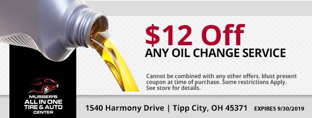 $12.00 off any Oil Change Service