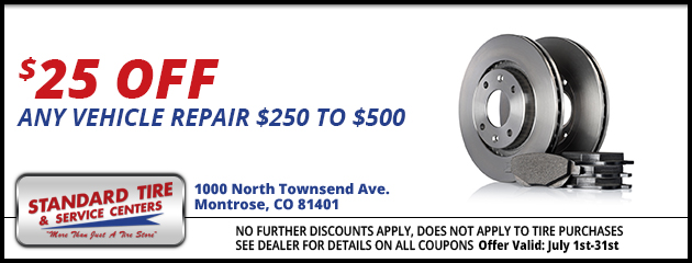 $25.00 off any vehicle repair - $250.00 to $500.00