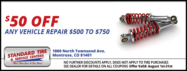$50.00 off any vehicle repair - $500.00 to $750.00