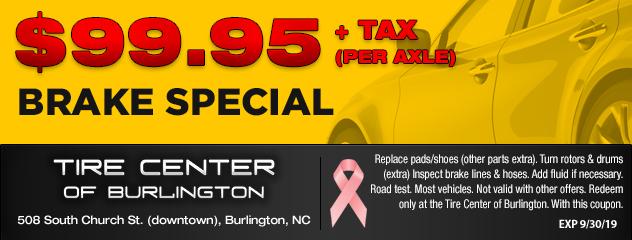 Tire Center Of Burlington :: Burlington NC Tires & Auto