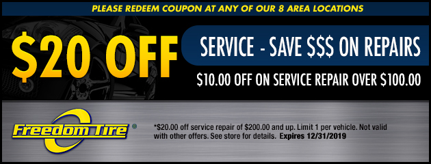 $20 Off Service Special