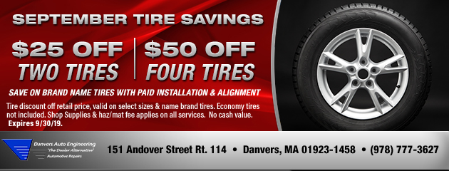 September Tire Savings