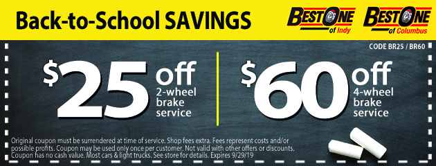 Best-One of Indy | Over 30 Years of Tires and Auto Repairs