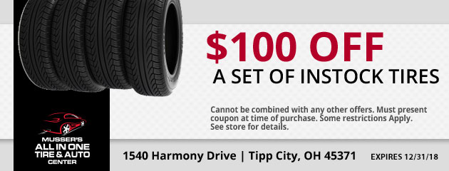 Discount on a set of Instock Tires
