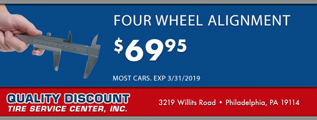 Four Wheel Alignment $69.95