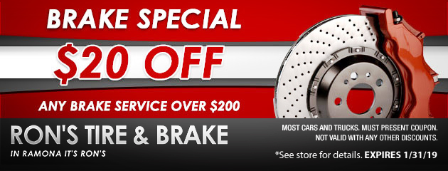 Rons Tire And Brake Ramona Ca Tires Auto Repair Shop