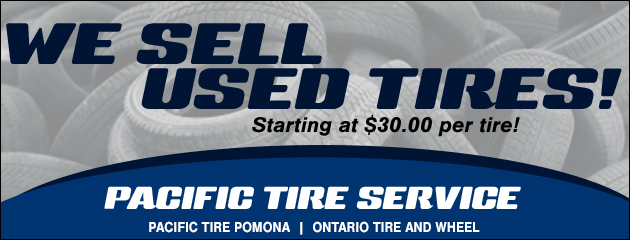 We sell used tires!