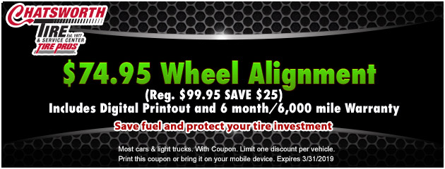 $74.95  Wheel Alignment