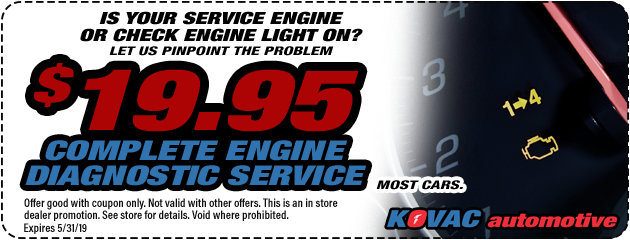 $19.95 Engine Diagnostic Service Special