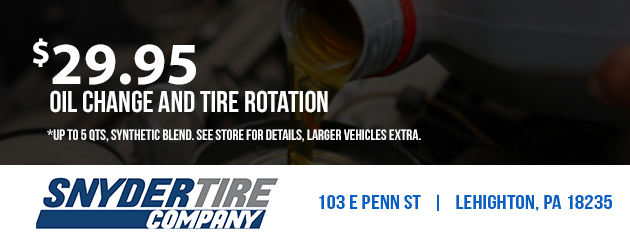 $29.95 Oil Change and Tire Rotation