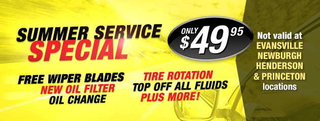 Summer Service Special $49.95
