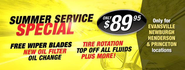 Summer Service Special $89.95