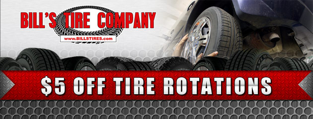 $5 OFF TIRE ROTATIONS
