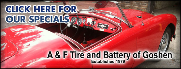 A & F Tire and Battery of Goshen Savings