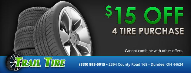 $15 off 4 tire purchase
