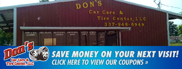Dons Car Care & Tire Center Savings