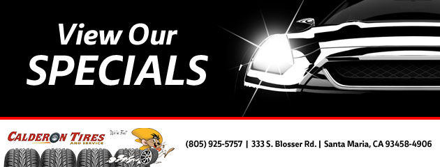 Calderon Tires and Service Savings