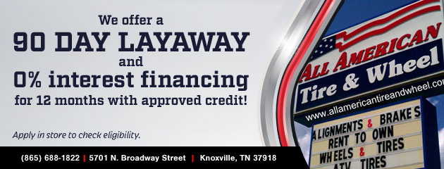 Knoxville Tn Tires Auto Repair Wheels All American Tire Wheel