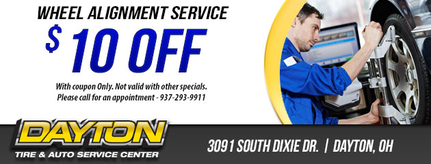$10 OFF WHEEL ALIGNMENT SERVICE