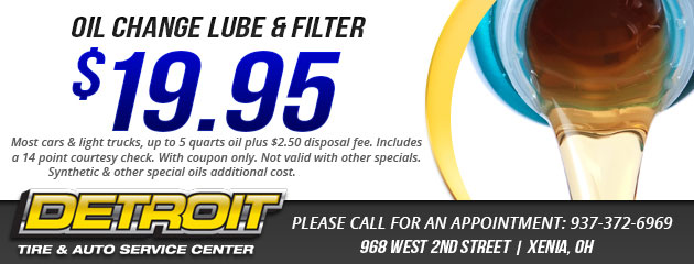 $19.95 OIL CHANGE LUBE & FILTER