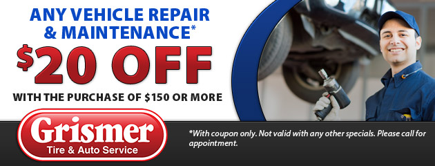 $20 off Any Vehicle Repair and Maintenance