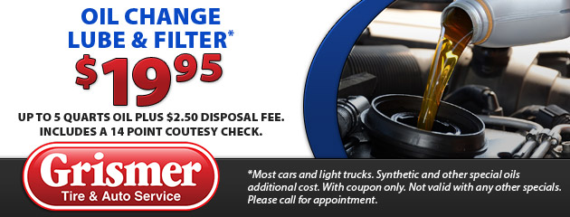 Oil Change, Lube and Filter - $19.95