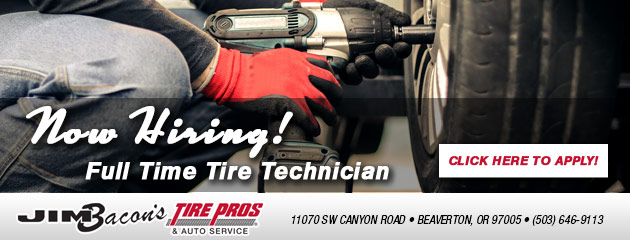 Now Hiring- Tire Technician