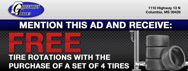Free rotations with 4 new tires