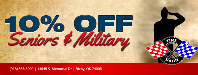 10% off Seniors and Military Coupon