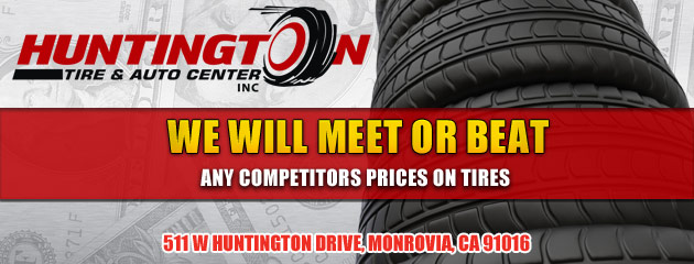 We Will Meet or Beat Any Competitors Prices On Tires