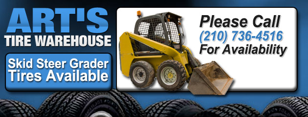 Skid Steer Grader Tires Available
