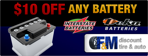 $10 Off Any Battery