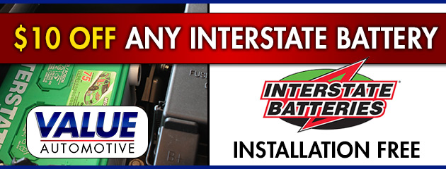 $10 Off Any Interstate Battery