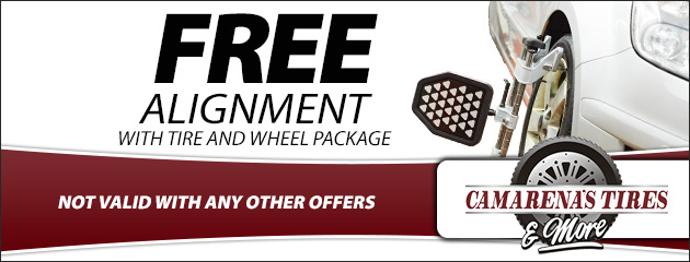 Free Alignment with Tire and Wheel Package